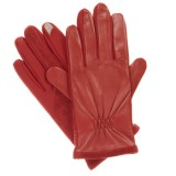 Isotoner Women's smarTouch Stretch Leather Gloves - Fleece Lined