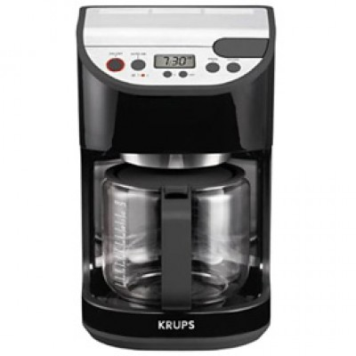 Krups KM6 Precision 12-Cup Coffee Maker - Black