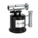 Vector KGM Tri-Pump 3 Jet Torch Table Flame - 2-Tone Chrome / Black